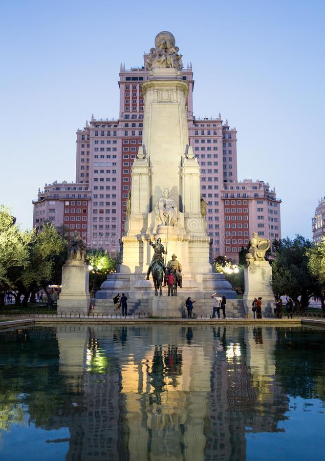 Monumentos do Madri Sightseeing da Espanha Curso em torno de Europa fotos de stock royalty free