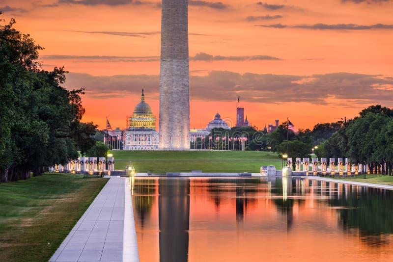 Monumentos do Washington DC fotos de stock