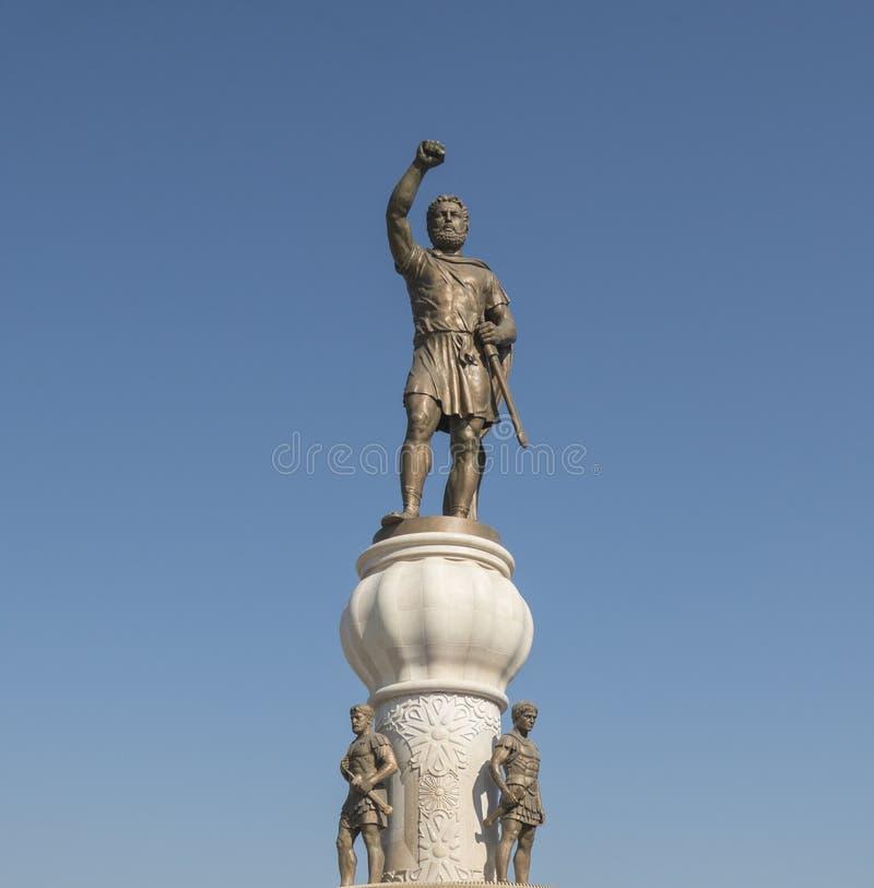 Monumentos em Skopje imagens de stock