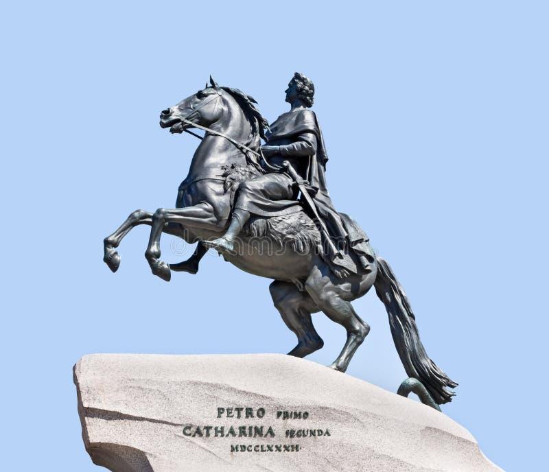 monumentpeter för kejsare stor ryss fotografering för bildbyråer