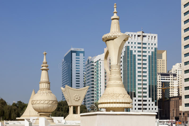 Monuments in Abu Dhabi royalty free stock photography