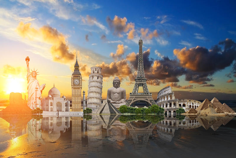 Monuments du monde illustration libre de droits