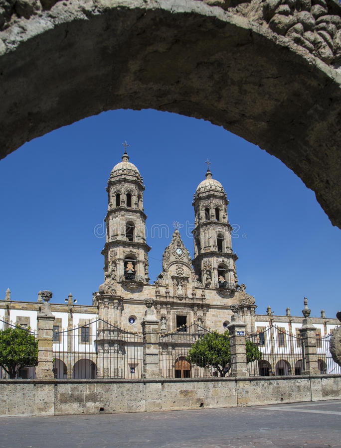 Monuments of Guadalajara, Jalisco, Mexico. Basilica de Zapopan.  royalty free stock images