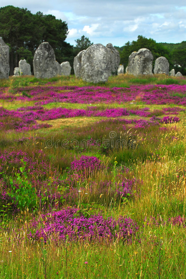 Monuments mégalithiques dans Brittany photographie stock