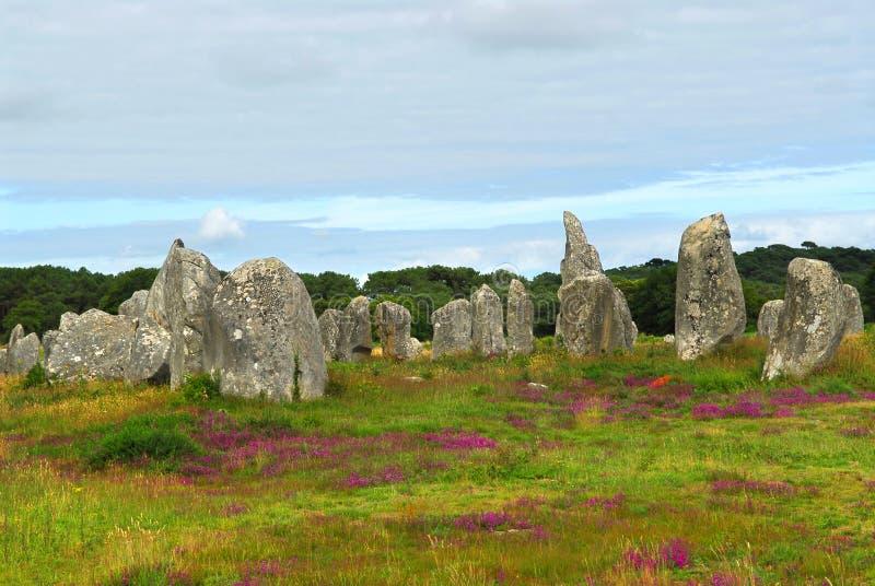 Monuments mégalithiques dans Brittany photographie stock libre de droits