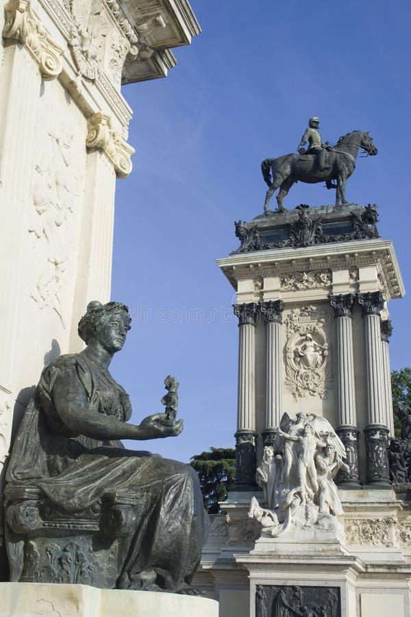 Monuments. retiro royalty free stock photos