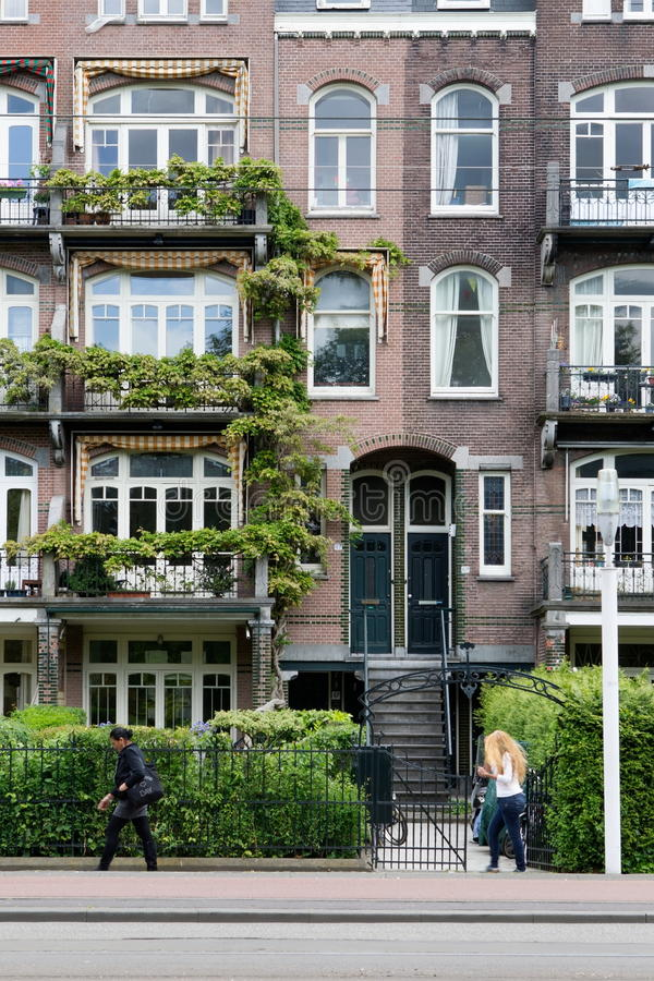 Monuments to the linnaeus street in Amsterdam royalty free stock photography