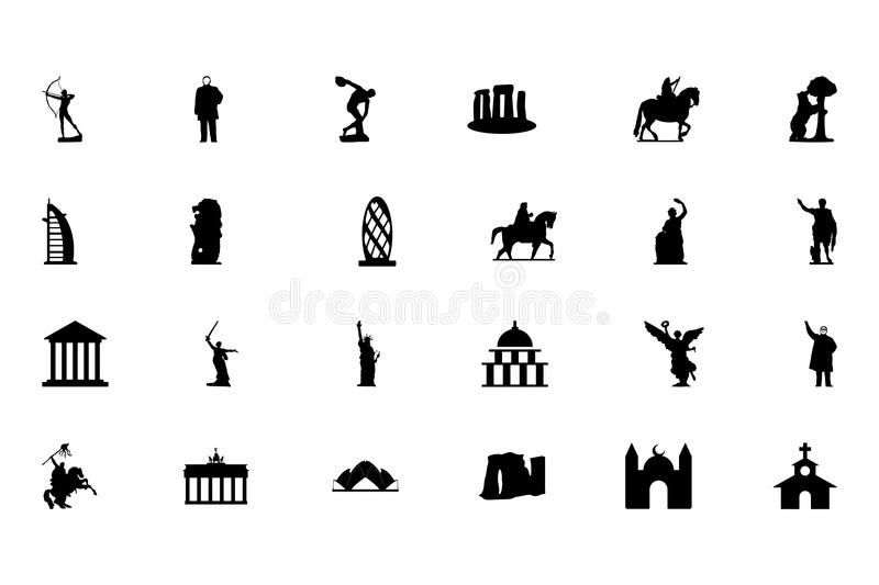 Monuments Vector Icons 2 vector illustration