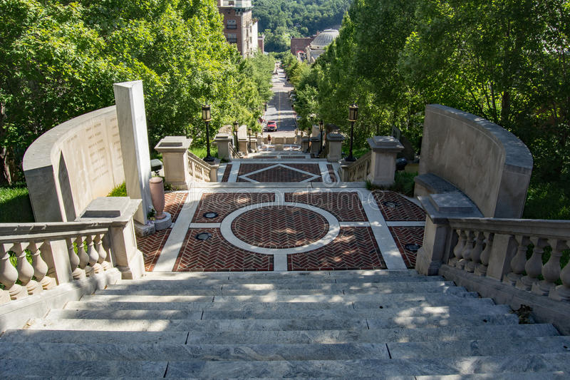"Monumentterrass†""Lynchburg, Virginia, USA royaltyfri foto"