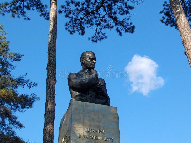 Monumet a Archibald Reiss está situado en el parque de Topcider imagen de archivo