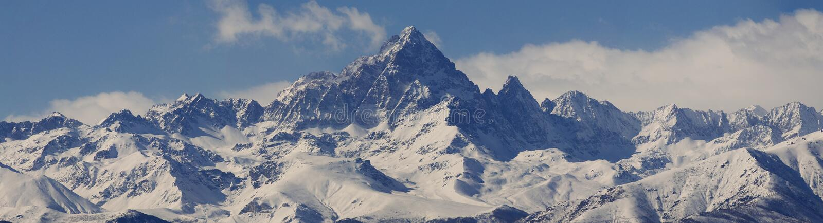 Monviso's panoramic view royalty free stock image
