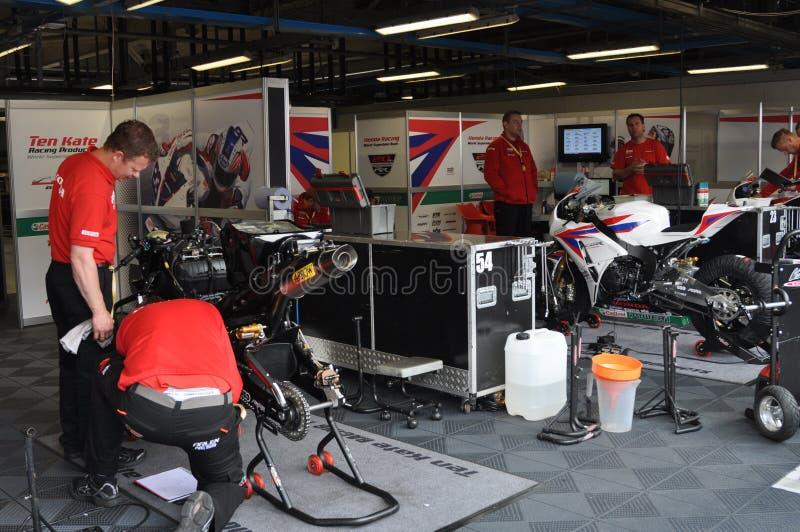 Monza 2012 - Honda que compite con a las personas de Superbike del mundo imágenes de archivo libres de regalías