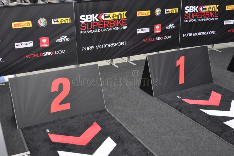 Monza 2012 - Superbike podium obrazy stock