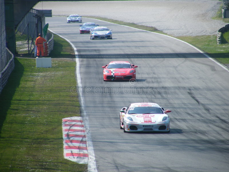 Download Monza Ferrari Challenge 3 editorial image. Image of competition - 4764700