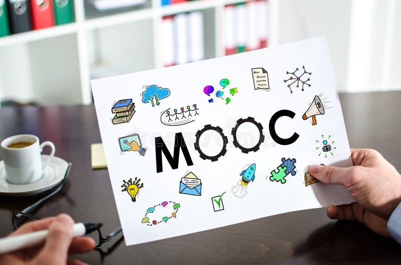 Mooc-Konzept auf einem Papier lizenzfreie stockfotos