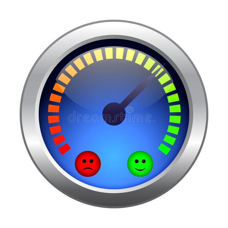 Mood meter. stock vector. Illustration of meter, good ...