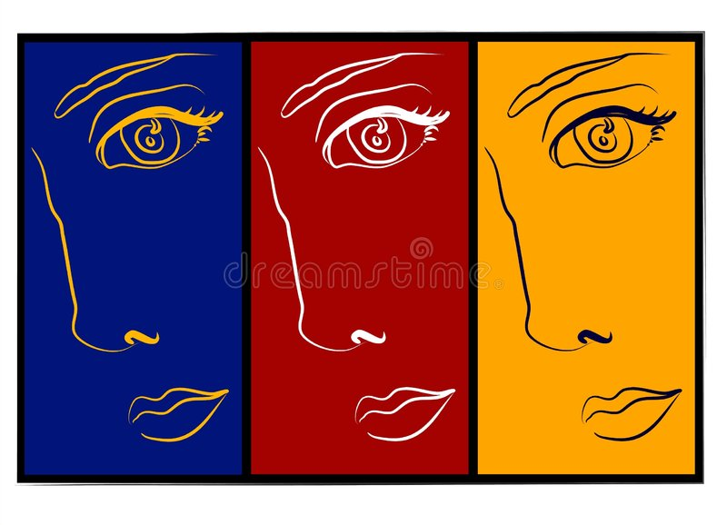 Download Moodswings - 3 Faces Collage Royalty Free Stock Photography - Image: 2205487