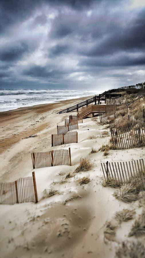 Moody beach royalty free stock photos