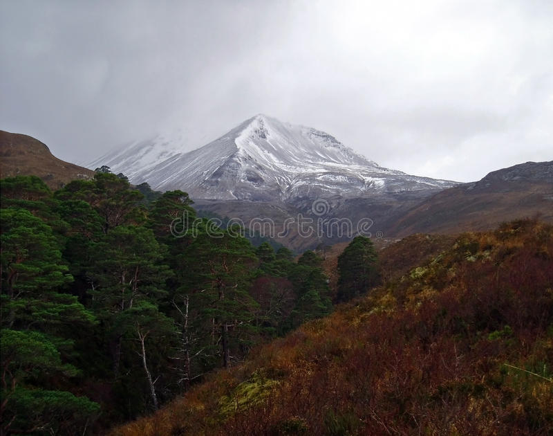 Download Moody Beinn Eighe Mountain, Scotland Stock Photo - Image of tree, beinn: 22074690
