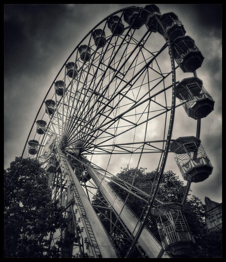 Monochrome Carousel stock images