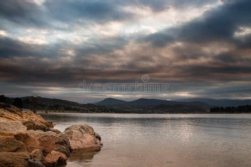 Moody clouds royalty free stock photo