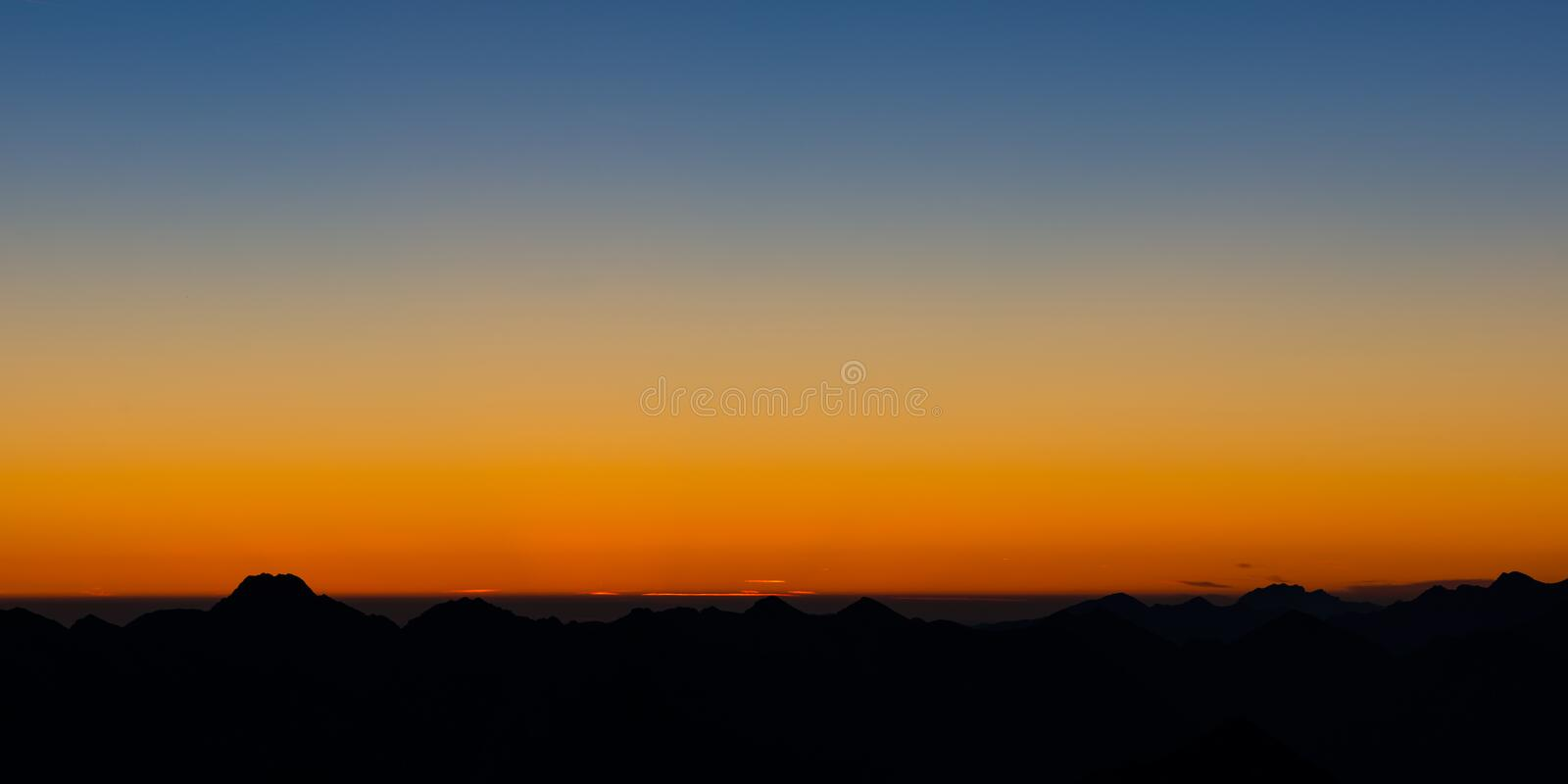 Download Moody Glowing Sky At Sunrise Stock Photo - Image: 34108740