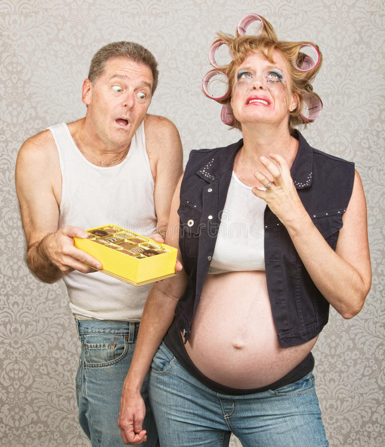 Moody Pregant Lady and Man royalty free stock photo