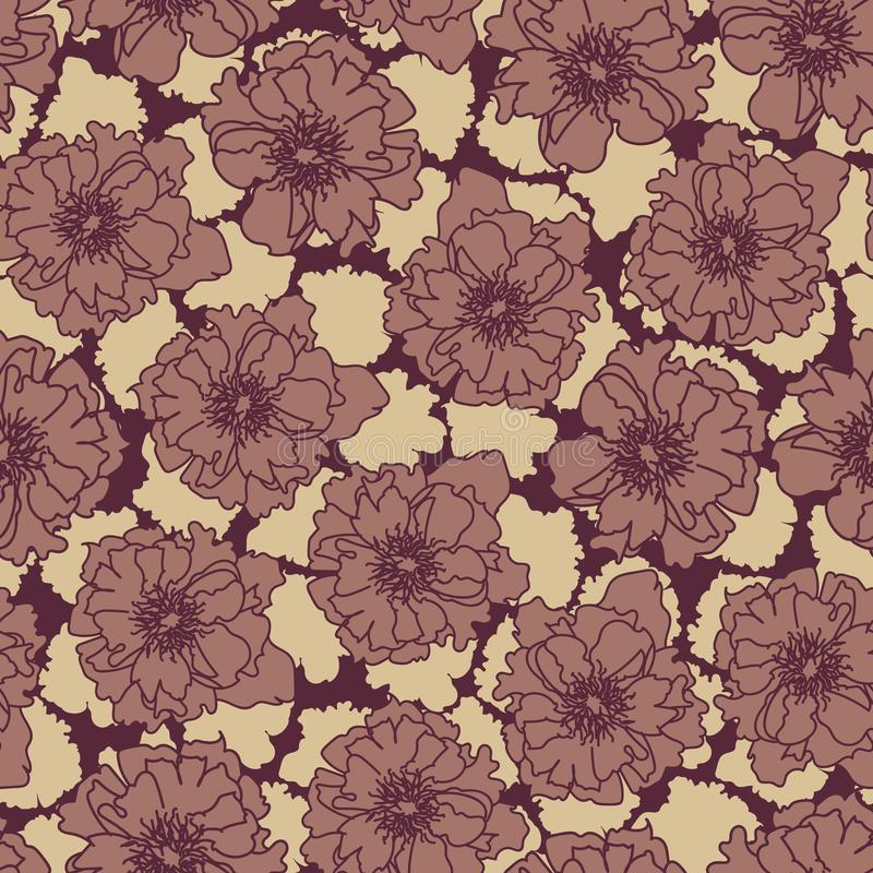 Moody seamless vector patterns with rose flowers. A moody seamless vector patterns with rose flowers. Surface print design royalty free illustration