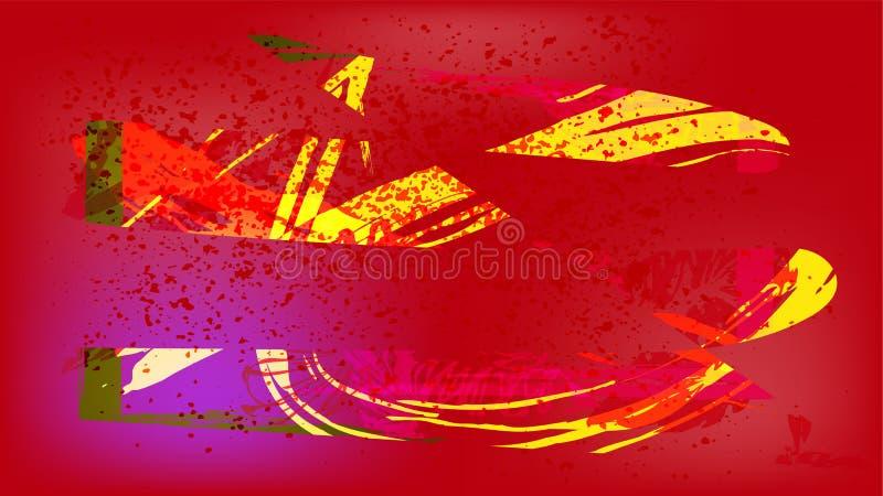 Mooi abstract beeld voor de achtergrond van computer, telefoon stock illustratie