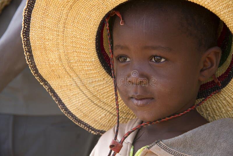 Mooi Afrikaans kind in Ghana stock afbeelding