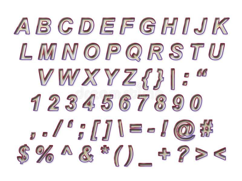 Mooi Alfabet om te verwijderen stock afbeeldingen