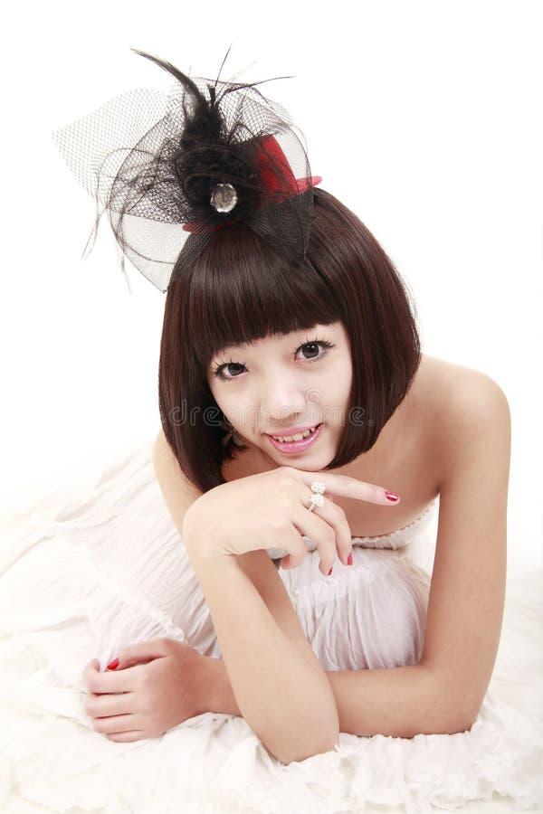 Mooi Aziatisch meisje royalty-vrije stock afbeeldingen