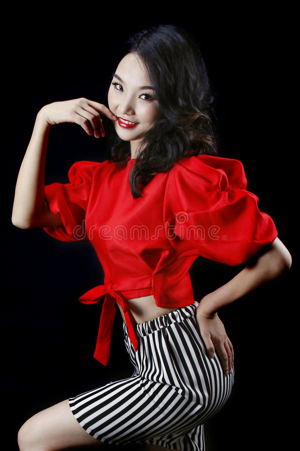 Mooi Aziatisch meisje royalty-vrije stock fotografie