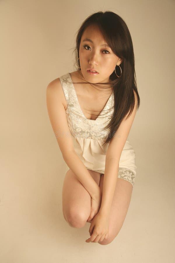 Mooi Aziatisch meisje stock afbeeldingen