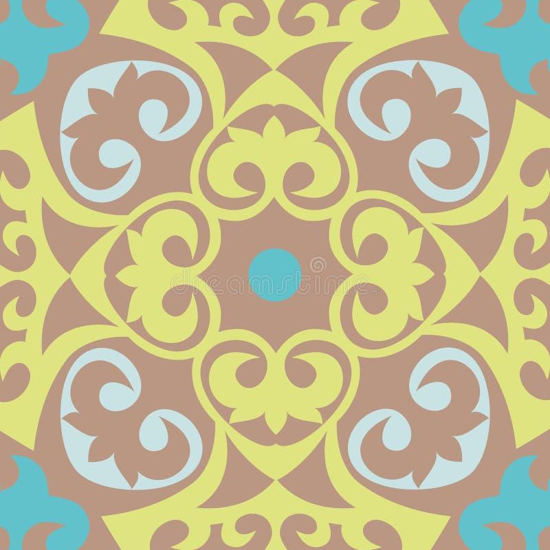 Mooi Aziatisch patroon voor de achtergrond Kazakh, Aziatisch patroon voor vliegers, embleem Kazakh nationale ornamenten royalty-vrije illustratie