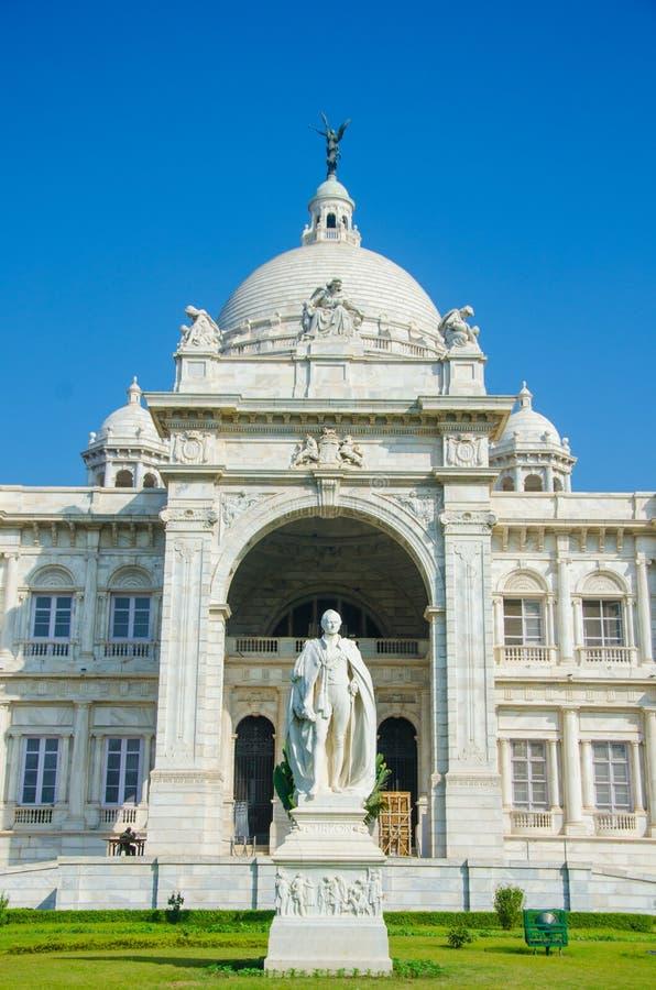 Mooi beeld van Victoria Memorial, Kolkata, Calcutta, West-Bengalen, India Een Historisch Monument van Indische Architect royalty-vrije stock afbeeldingen