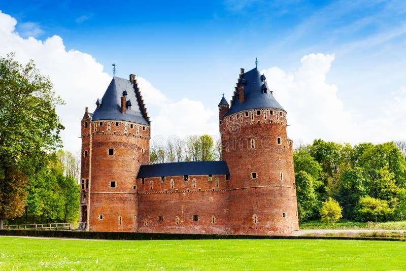 Mooi Beersel-Kasteel in Brussel, België royalty-vrije stock fotografie