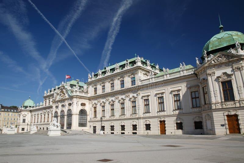 Mooi Belvedere Paleis in Wenen De zomerwoonplaats stock afbeelding