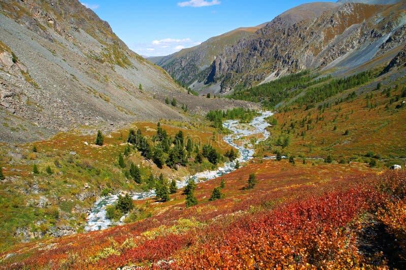 Mooi bergenlandschap. royalty-vrije stock afbeeldingen