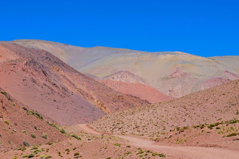 Mooi berglandschap in de Argentijnse Andes, dichtbij Laguna Brava, Paso Pircas Negras, Argentinië, Zuid-Amerika stock foto
