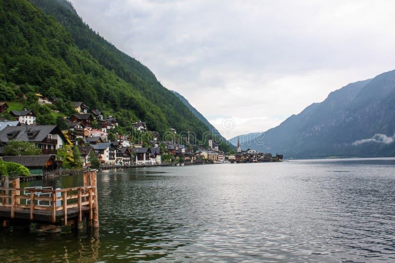 Mooi bergmeer in de Oostenrijkse Alpen royalty-vrije stock afbeeldingen