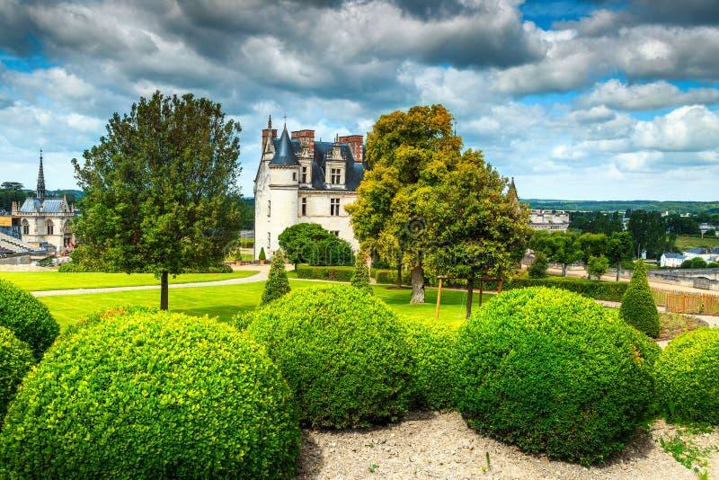 Mooi beroemd kasteel van Amboise, de Loire-Vallei, Frankrijk, Europa stock foto