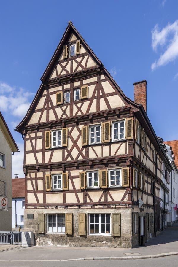 mooi betimmerd huis in Sindelfingen Duitsland royalty-vrije stock afbeeldingen