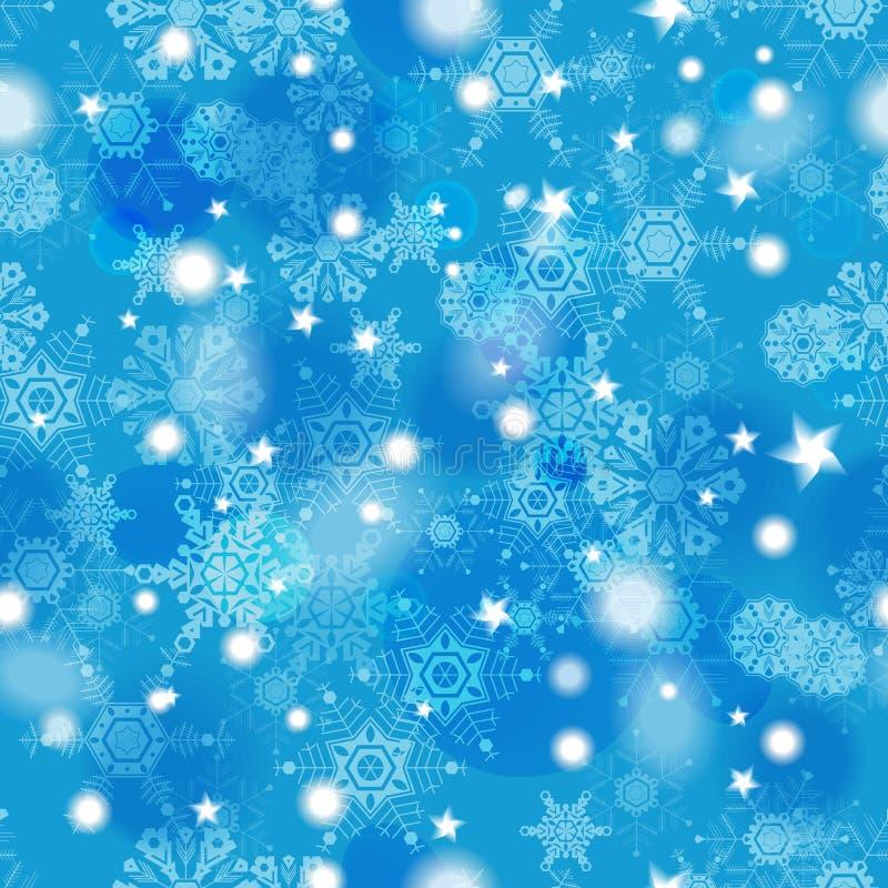 Mooi blauw de winter naadloos patroon vector illustratie