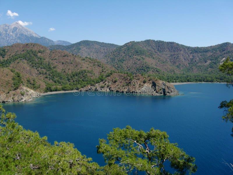 Mooi blauw watermeer stock afbeelding