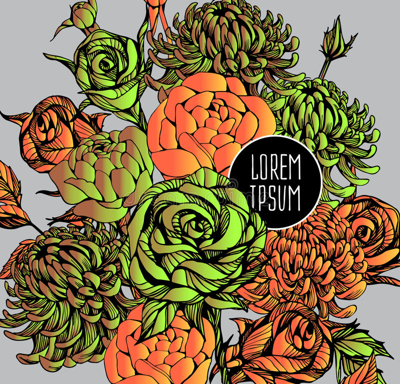 Mooi bloemart. als achtergrond stock illustratie