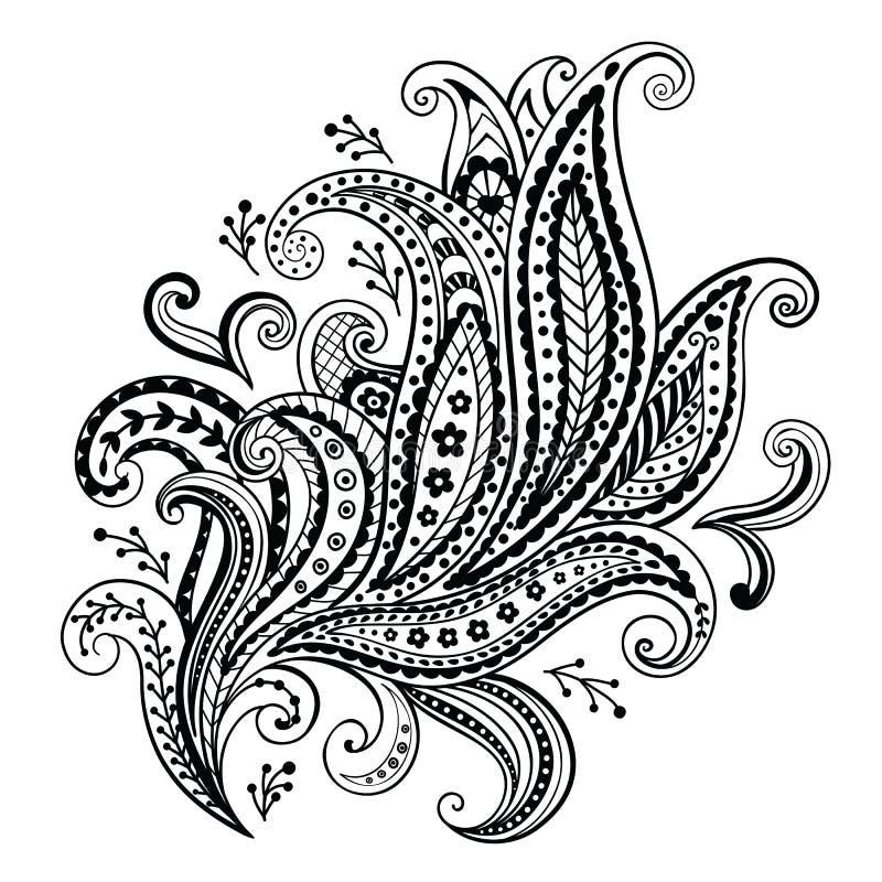 Mooi bloemenornament royalty-vrije illustratie