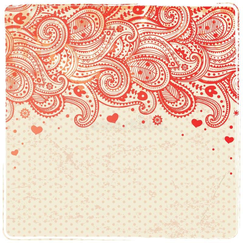 Mooi bloemenornament vector illustratie