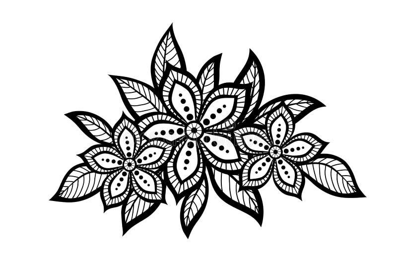 Mooi bloemenpatroon, een ontwerpelement in  royalty-vrije illustratie