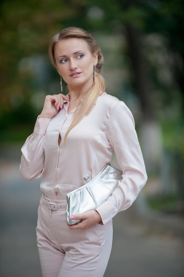 Mooi blonde royalty-vrije stock foto